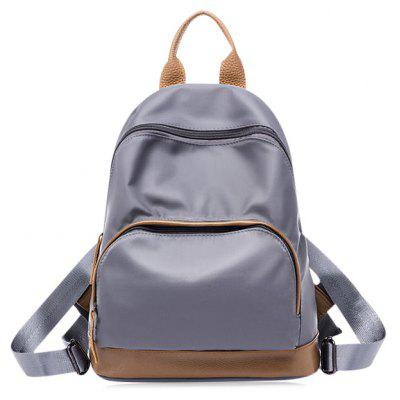 Buy GRAY Color Block Zippers Nylon Backpack for $22.14 in GearBest store