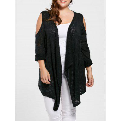Cardigan Grande Taille Épaules Ouvertes