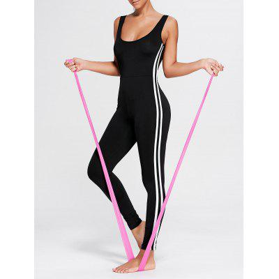 Stripe Contrast Padded Workout Jumpsuit Leggings