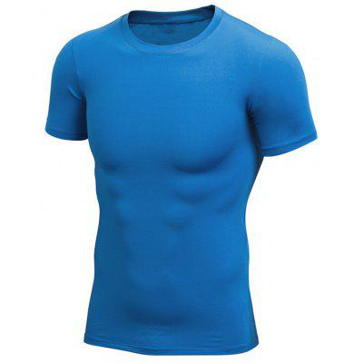 Crew Neck Stretchy Fitted Gym T-shirt