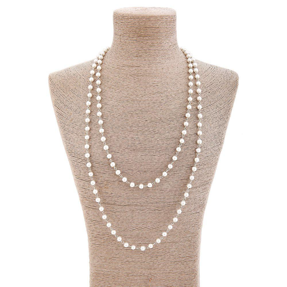 Faux Pearl Statement Sweater Chain