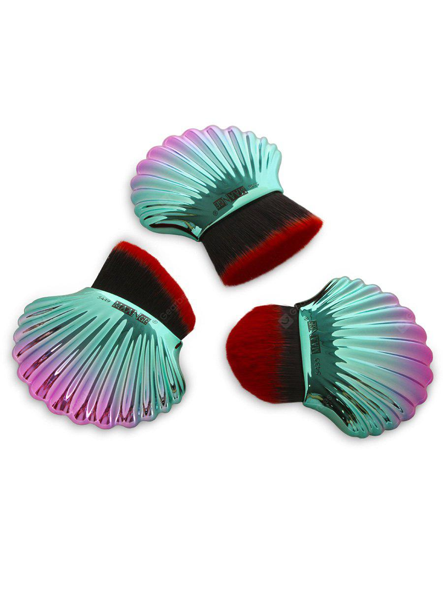 3Pcs Ocean Shell Design Multipurpose Makeup Brushes Set