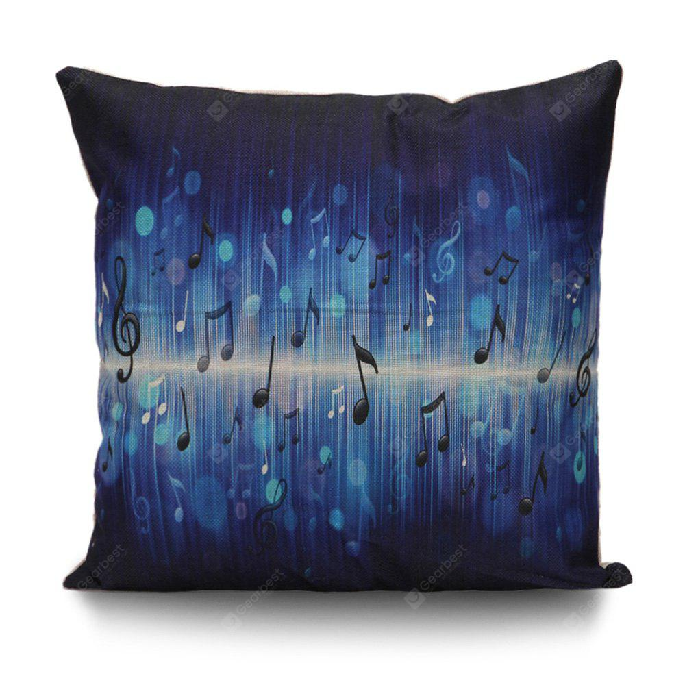 Music Notes Print Decorative Pillow Cover