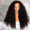 Long Free Part Afro Shaggy Curly Lace Front Synthetic Wig - BROWN