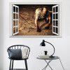 3D Window Zombie Removable Wall Art Sticker - CASTANHO