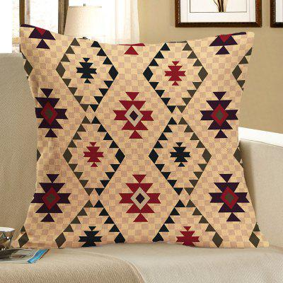 Graphic Pattern Linen Decorative Pillow Case