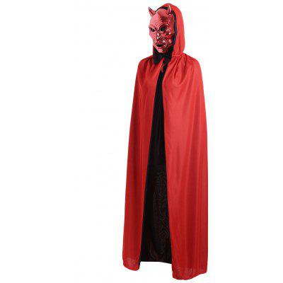Halloween Cosplay Ghost Hooded Long Cloak