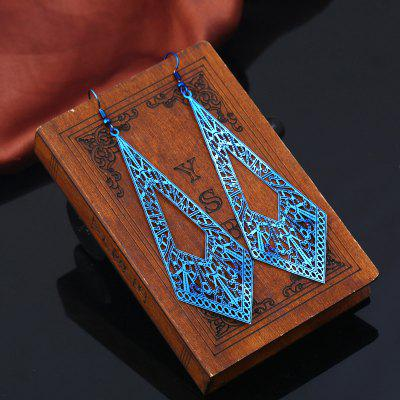 Vintage Metal Geometric Hook Earrings