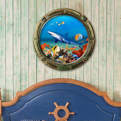 Cartoon Sea World Animals 3D Wandaufkleber
