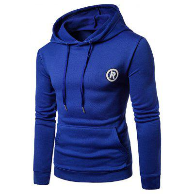 Graphic Appliques Fleece Pullover Hoodie