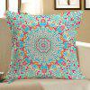 Ethnic Geometry Printed Linen Decorative Pillow Case - COLORFUL