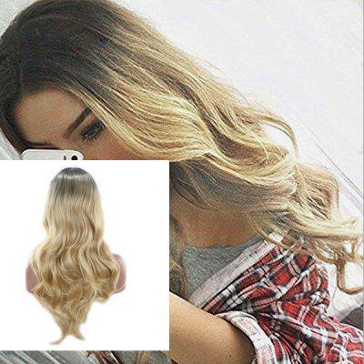 Long Center Parting Ombre Layered Wavy Synthetic Wig
