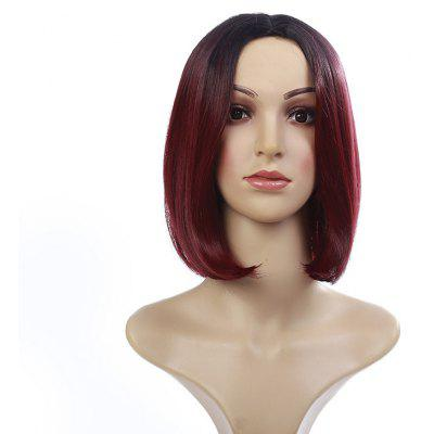 Short Middle Part Straight Bob Colormix Synthetic Wig