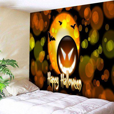 Buy YELLOW ORANGE Happy Halloween Pumpkin Lantern Wall Tapestry for $20.22 in GearBest store