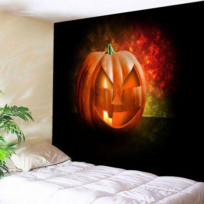 Buy BLACK Halloween Jack O Lantern Wall Tapestry for $18.42 in GearBest store