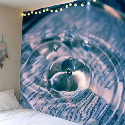 Buy COLORMIX Water Drop Pattern Waterproof Wall Hanging Tapestry for $16.59 in GearBest store