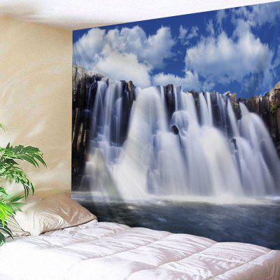 Buy COLORMIX Waterfall Landscape Bedroom Wall Tapestry for $22.35 in GearBest store