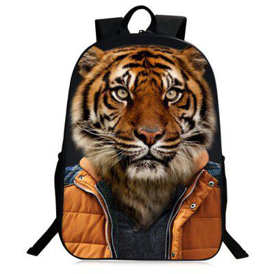Buy GOLD BROWN 3D Animal Pattern Polyester Backpack for $26.30 in GearBest store