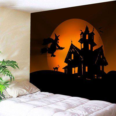 Halloween Witch Print Wall Decor Tapestry