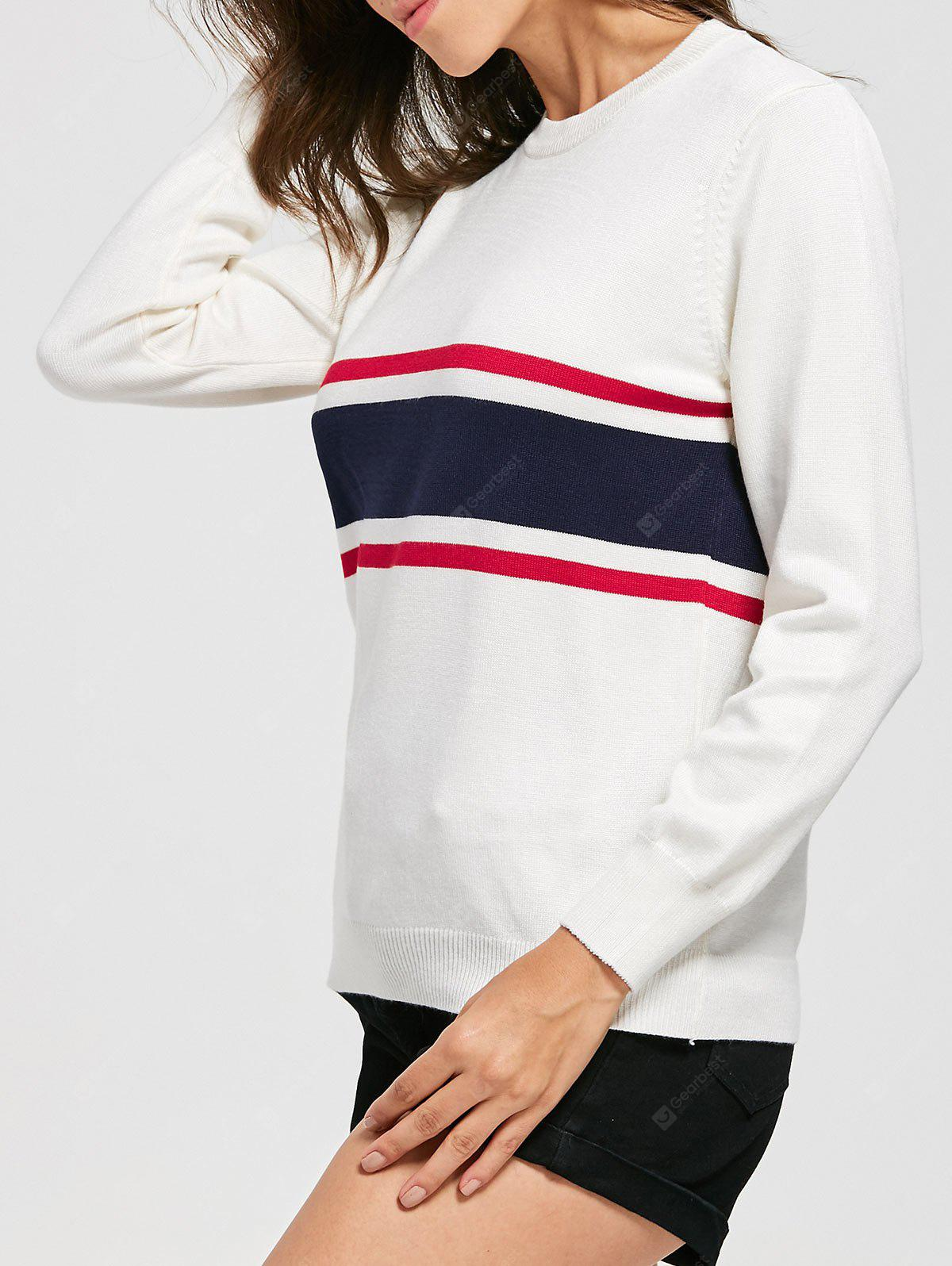 Striped Crew Neck Jumper Sweater