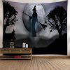 Wall Hanging Halloween Witch Tapestry - GRAY