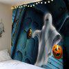 Halloween Ghost Pumpkin Lamp Wall Tapestry - COLORMIX