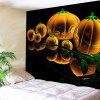 Halloween Pumpkin Lantern Wall Tapestry - BLACK