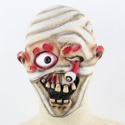 Dropping Eyeball Ghost Halloween Mask