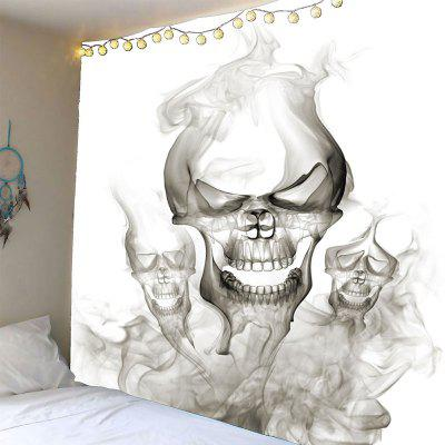 Buy GRAY Halloween Smoky Skulls Waterproof Wall Art Tapestry for $19.40 in GearBest store