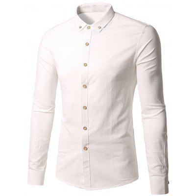Turndown Collar Slim Fit Button Down Shirt