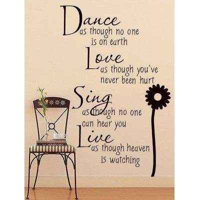 Letters Quote Wall Art Stickers For Living Room