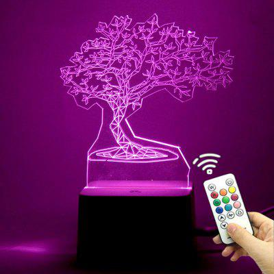 3D Tree Shape Color Change Remote Control Night Light