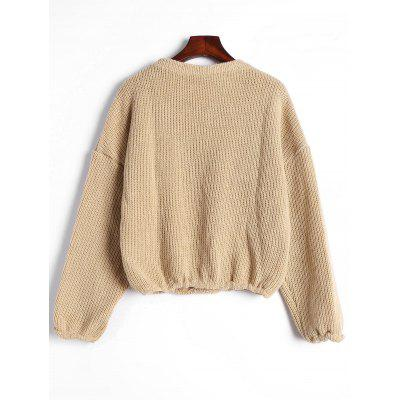 Plain Drop Shoulder Pullover SweaterSweaters &amp; Cardigans<br>Plain Drop Shoulder Pullover Sweater<br><br>Collar: Crew Neck<br>Material: Polyester<br>Package Contents: 1 x Sweater<br>Sleeve Length: Full<br>Style: Casual<br>Type: Pullovers<br>Weight: 0.4000kg