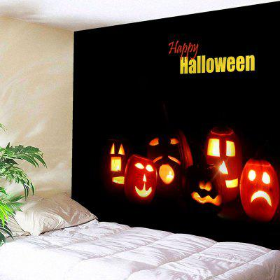 Happy Halloween Jack O Lantern Wall Tapestry