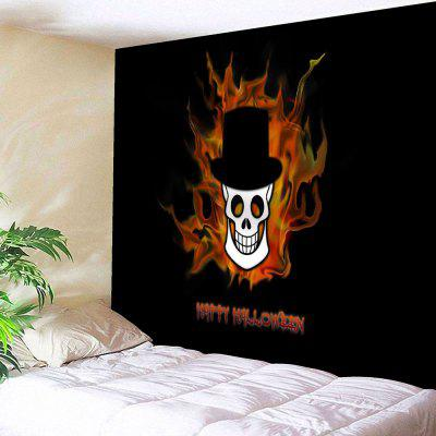 Happy Halloween Skull Print Wall Tapestry