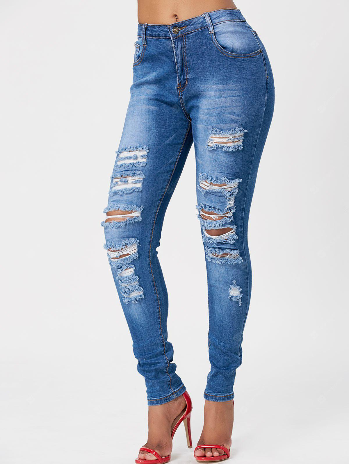 Whimsy Distressed Wash Skinny Jeans