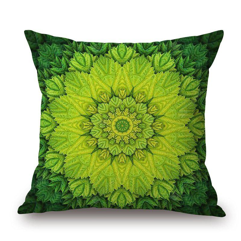 Floral Pattern Linen Sofa Pillowcase