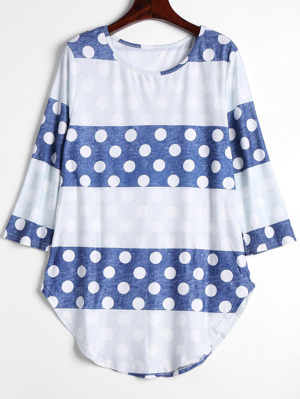 DOT PATTERN S Contrast Polka Dot Long Tee