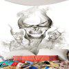 Halloween Smoky Skulls Waterproof Wall Art Tapestry - GRAY