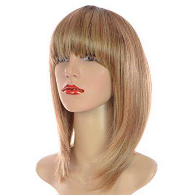 Buy COLORMIX Short Neat Bang Colormix Straight Bob Synthetic Wig for $15.73 in GearBest store