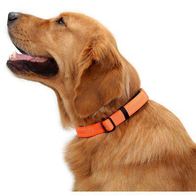 Collar de perro ajustable de nylon con malla reflectante