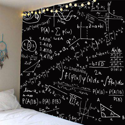 Mathematical Notes Pattern Waterproof Wall Hanging Tapestry