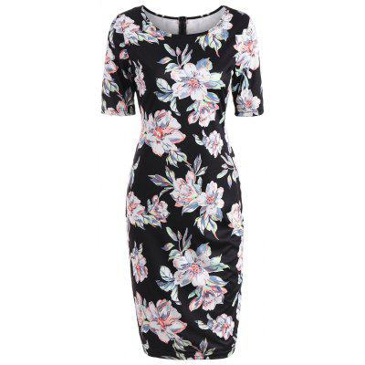 Floral Ptint Formal Bodycon Dress
