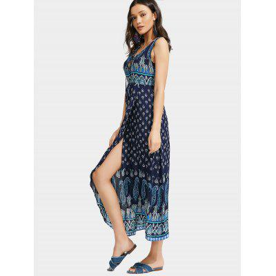 Paisley Lace Up Front Slit Maxi DressMaxi Dresses<br>Paisley Lace Up Front Slit Maxi Dress<br><br>Dresses Length: Ankle-Length<br>Material: Polyester<br>Neckline: Plunging Neck<br>Package Contents: 1 x Dress<br>Pattern Type: Paisley<br>Season: Fall, Summer<br>Sleeve Length: Sleeveless<br>Style: A Line<br>Weight: 0.2700kg<br>With Belt: No