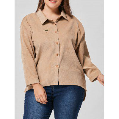 Plus Size High Low Drop Shoulder Jacket