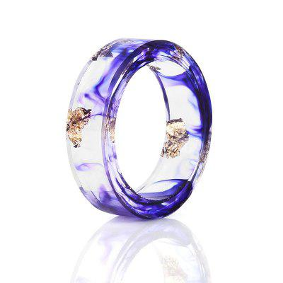 Dry Flower Vintage Resin Transparent Ring