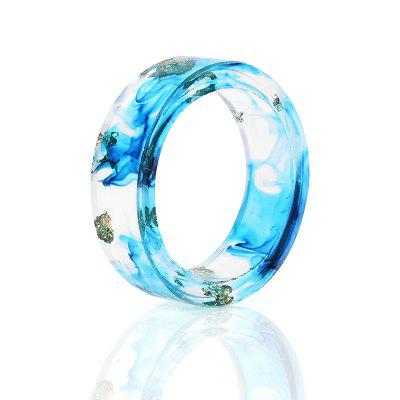 Ocean Dry Flower Resin Transparent Ring