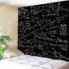 Mathematical Notes Pattern Waterproof Wall Hanging Tapestry - BLACK