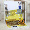 200 Euro Banknote Pattern Water Absorption Bath Towel - YELLOW