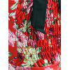 Vintage Halter Floral 50s Swing Dress - RED